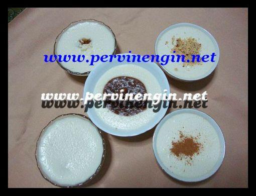 GARNİTÜRLÜ AİLEBOYU  MUHALLEBİ (karamelli, çikolatalı tarçınlı, elmalı, fındıklı)