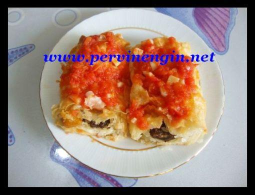 PİLAVLI BÖREK(sade ve domates soslu)